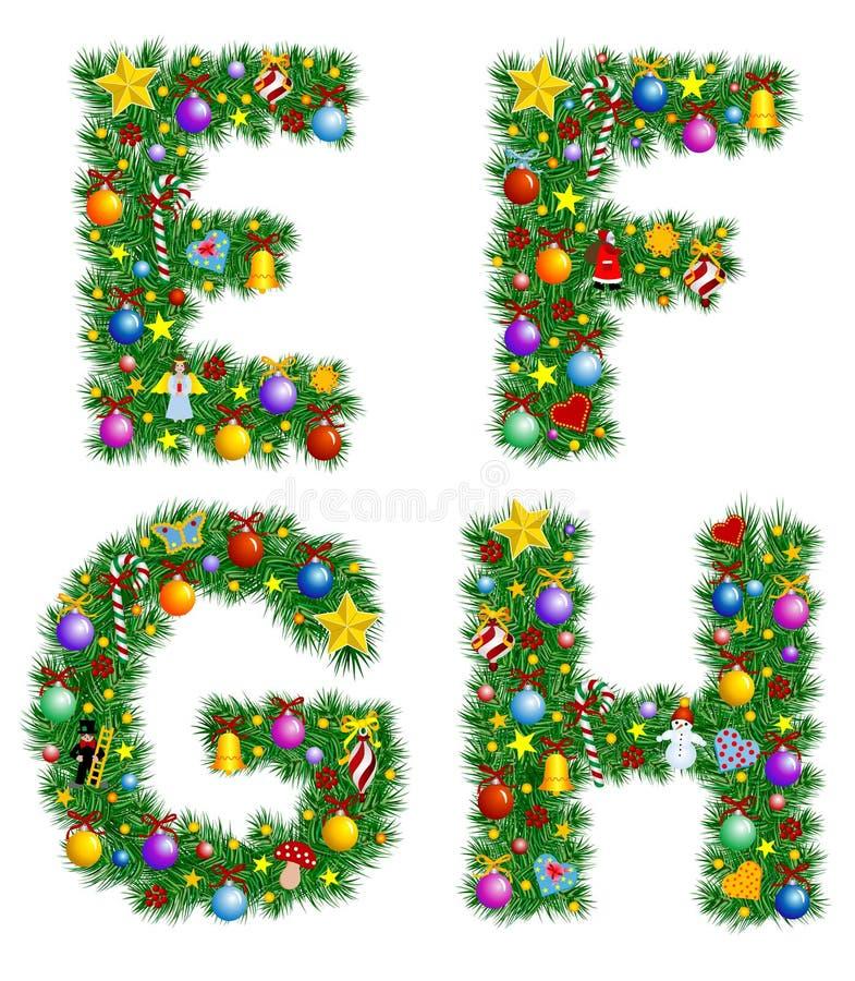Weihnachtsalphabet lizenzfreie abbildung