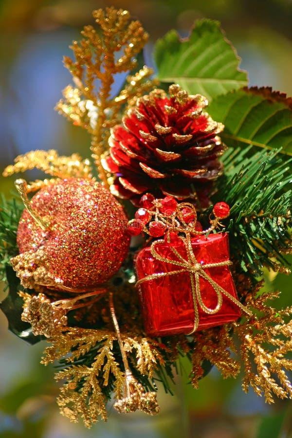 Weihnachtsanordnung lizenzfreie stockfotografie