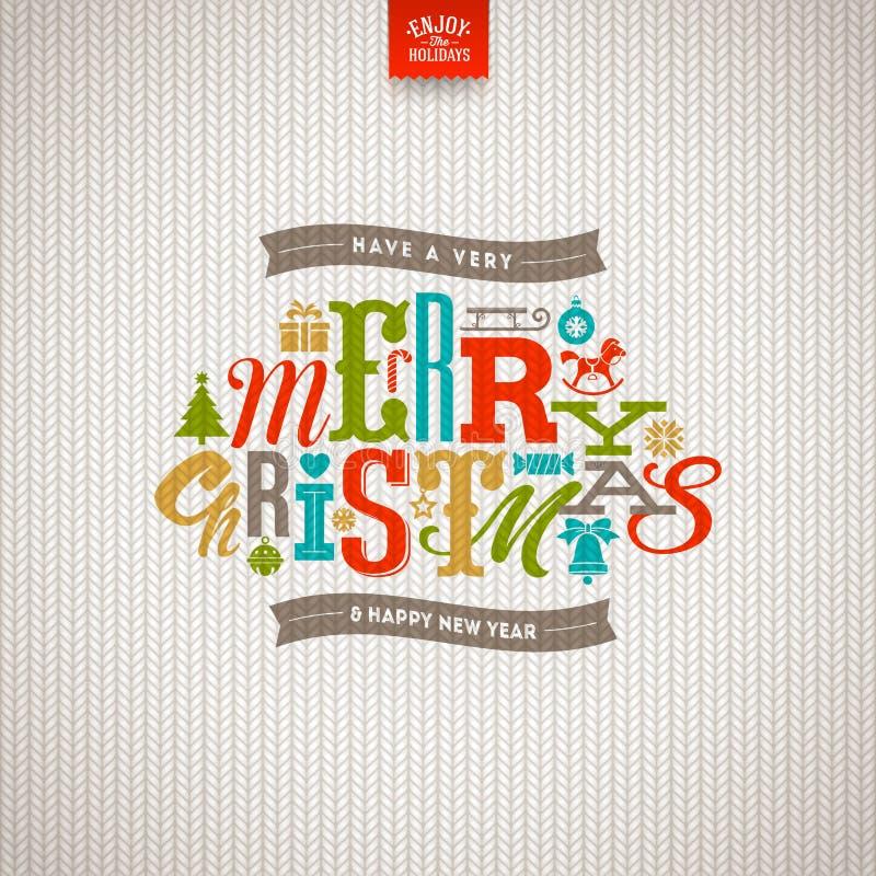 Weihnachtsart Design lizenzfreie abbildung