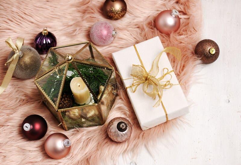 Weihnachtsartikelanordnung stockfoto
