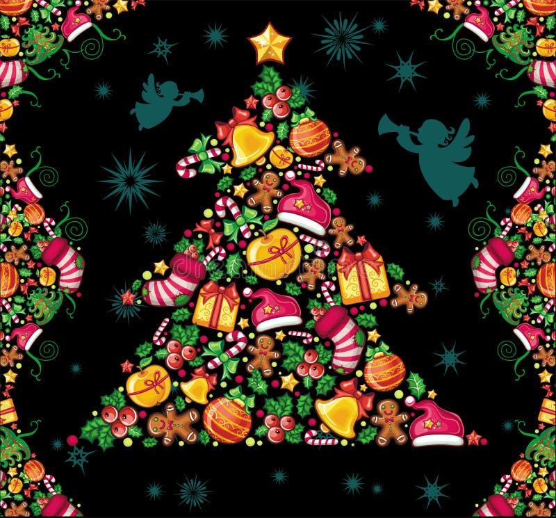 Weihnachtsaufbau lizenzfreie abbildung