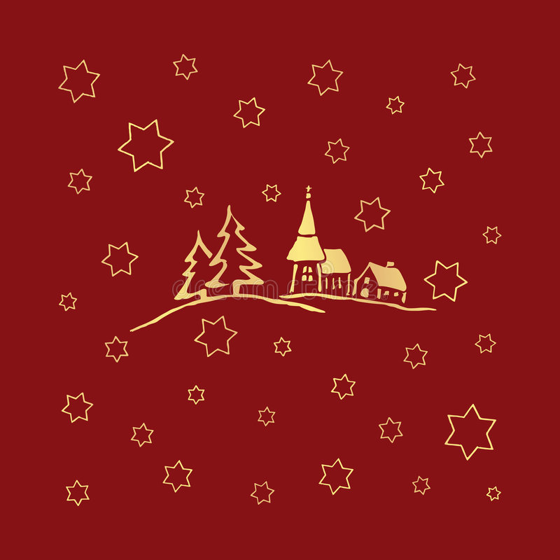 Weihnachtsaufbau stockbild