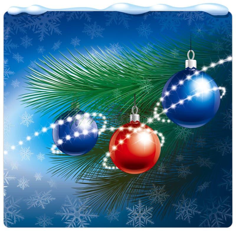 Weihnachtsaufbau vektor abbildung
