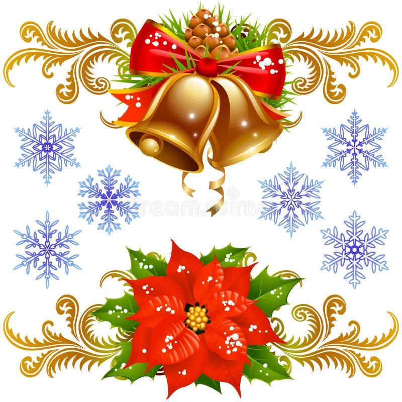 Weihnachtsauslegung-Elementset 2 vektor abbildung