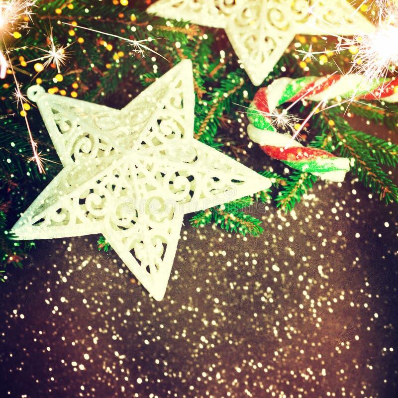 Weihnachtsauslegung - frohe Weihnachten Neues Jahr stockfotos