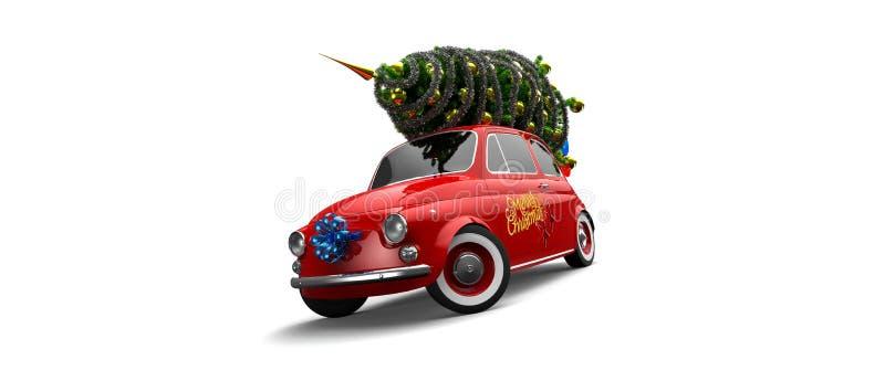 Weihnachtsauto stockfotos