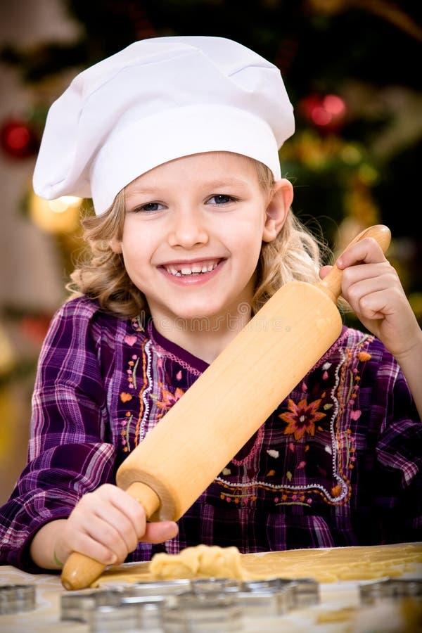Weihnachtsbäckerei stockfoto