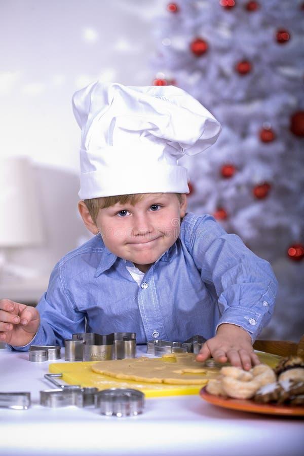 Weihnachtsbäckerei stockbild