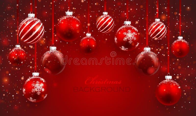 Weihnachtsbälle stock abbildung