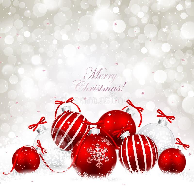 Weihnachtsbälle lizenzfreie abbildung