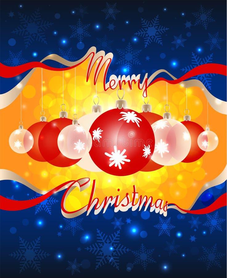 Weihnachtsbälle sind- durch das Loch in der dunkelblauen SK sichtbar stock abbildung