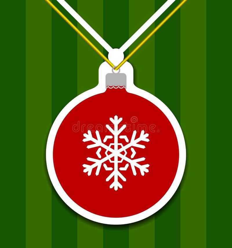 Weihnachtsball Cutted vom Papier lizenzfreie abbildung