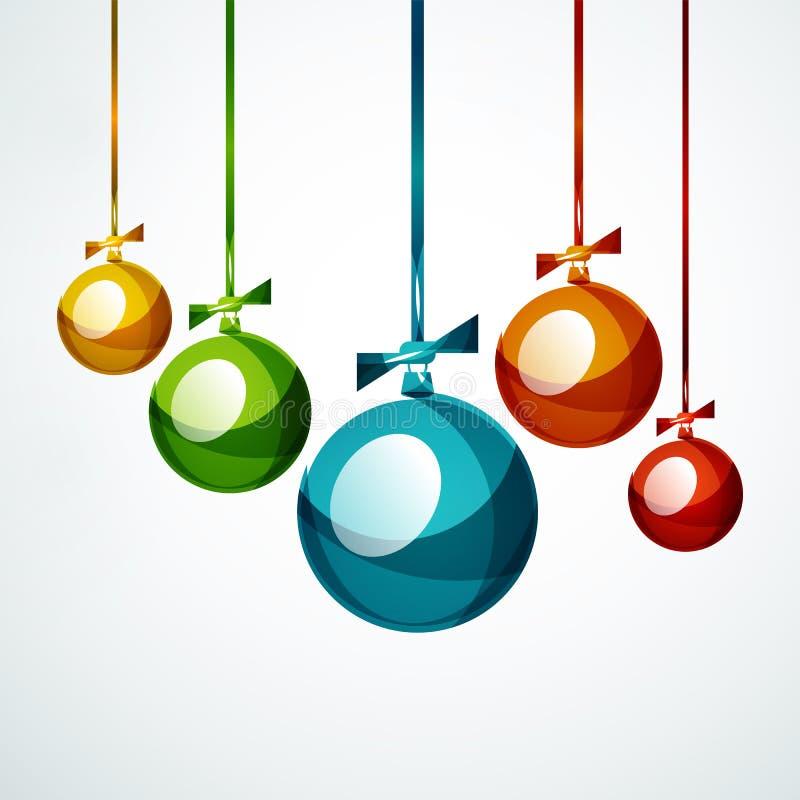 Weihnachtsball, Flitter, neues Jahr-Konzept lizenzfreie abbildung