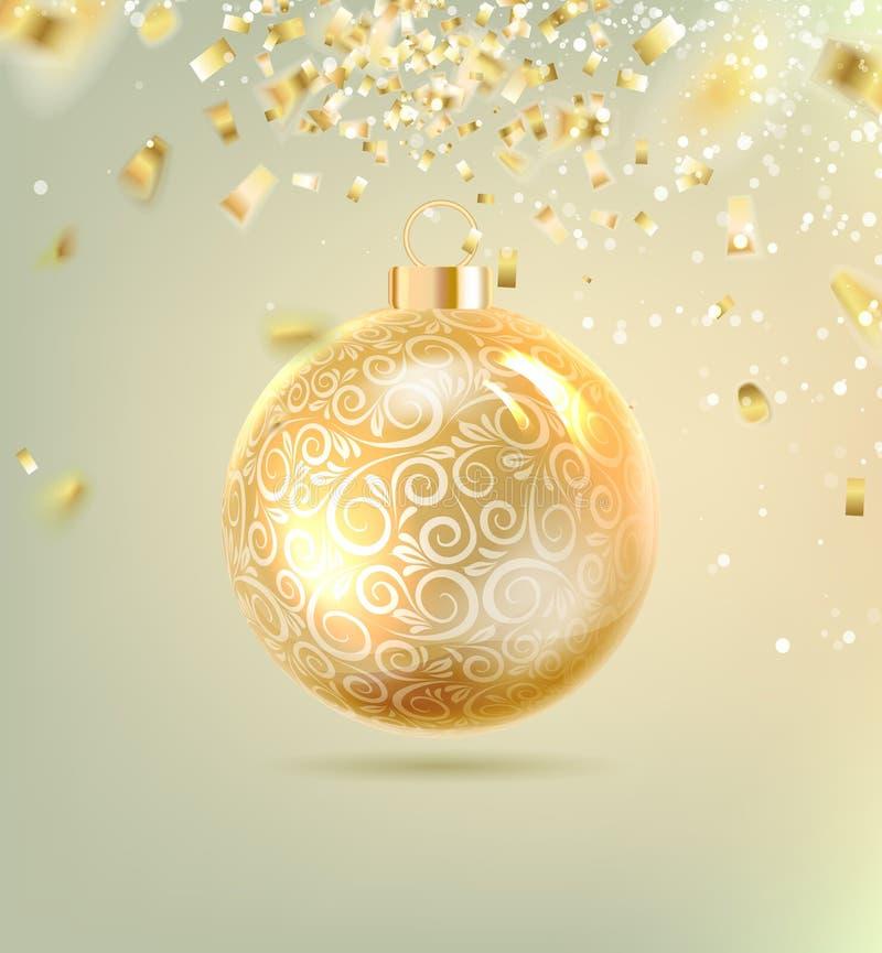 Weihnachtsball mit Kurven stock abbildung