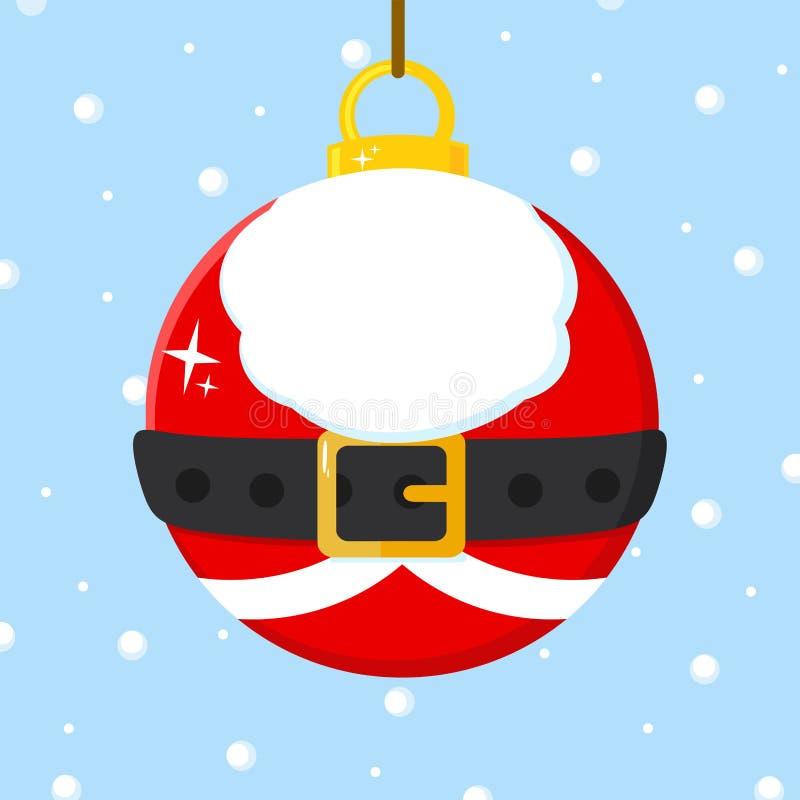 Weihnachtsball mit Santa Claus Costume vektor abbildung
