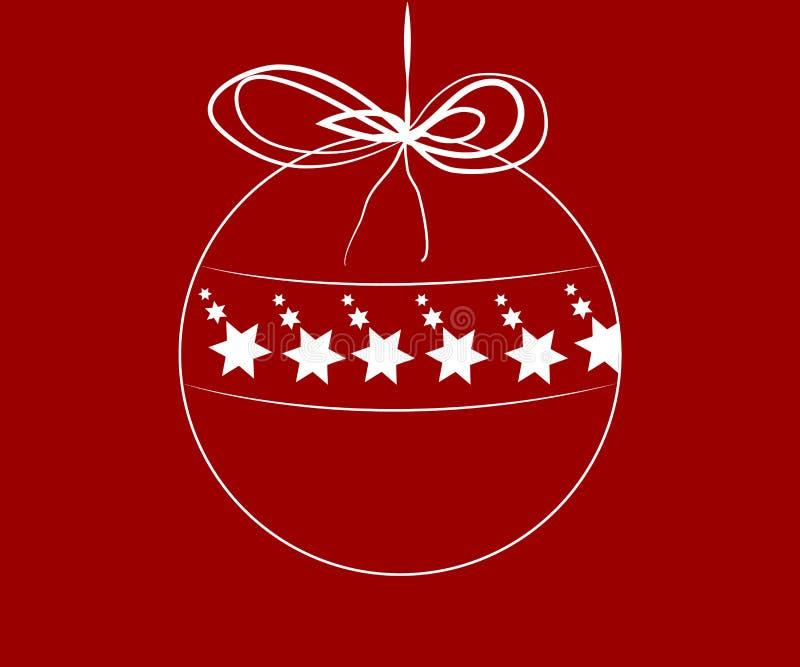 Weihnachtsball mit Sternen nach innen vektor abbildung