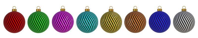 Weihnachtsball neues Jahr ` s Eve Dekorationswindung zeichnet hängende Verzierungsandenken der Flitterwinterzeit vektor abbildung