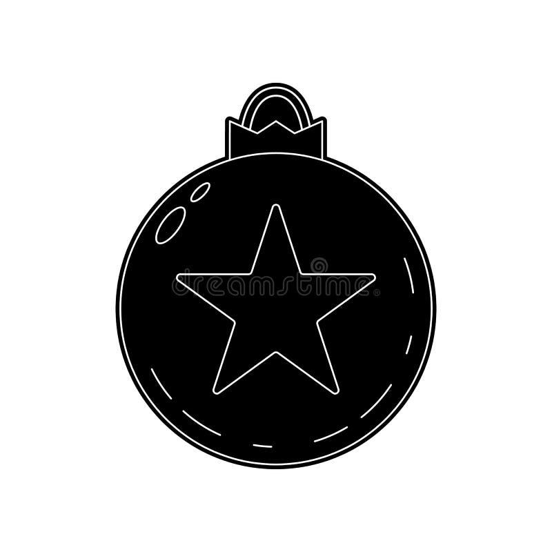 Weihnachtsball-Spielzeugikone Element des Winters f?r bewegliches Konzept und Netz Appsikone Glyph, flache Ikone f?r Websiteentwu stock abbildung