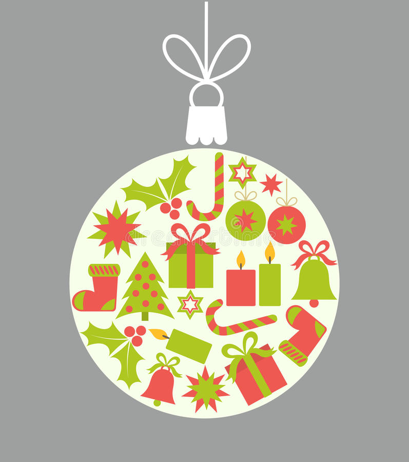 Weihnachtsball-Verzierung stock abbildung