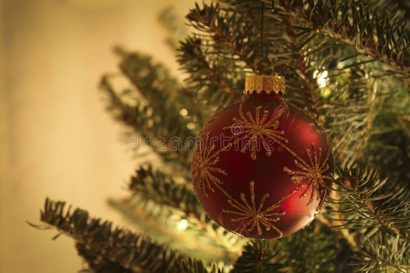 Weihnachtsball-Verzierung lizenzfreies stockbild