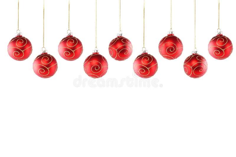 Weihnachtsballschach stockbilder
