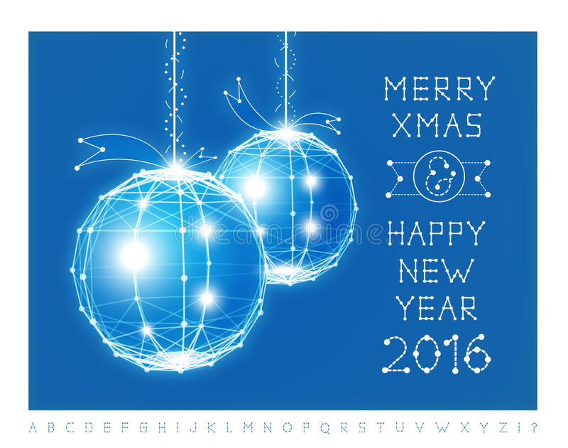 Weihnachtsballvektorillustration und -guß vektor abbildung