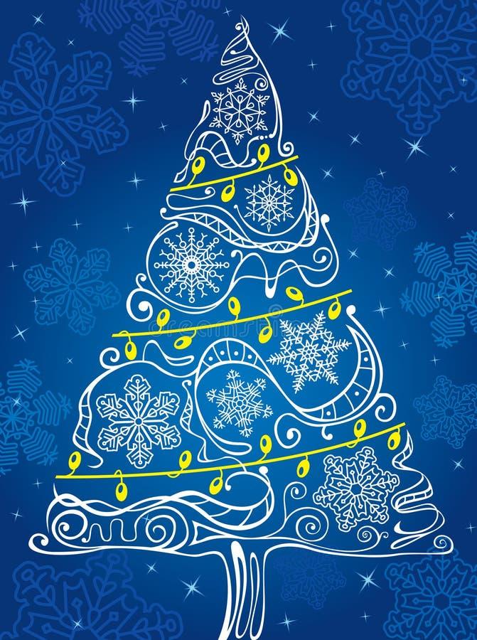 Download Weihnachtsbaum vektor abbildung. Illustration von feiertag - 12200062