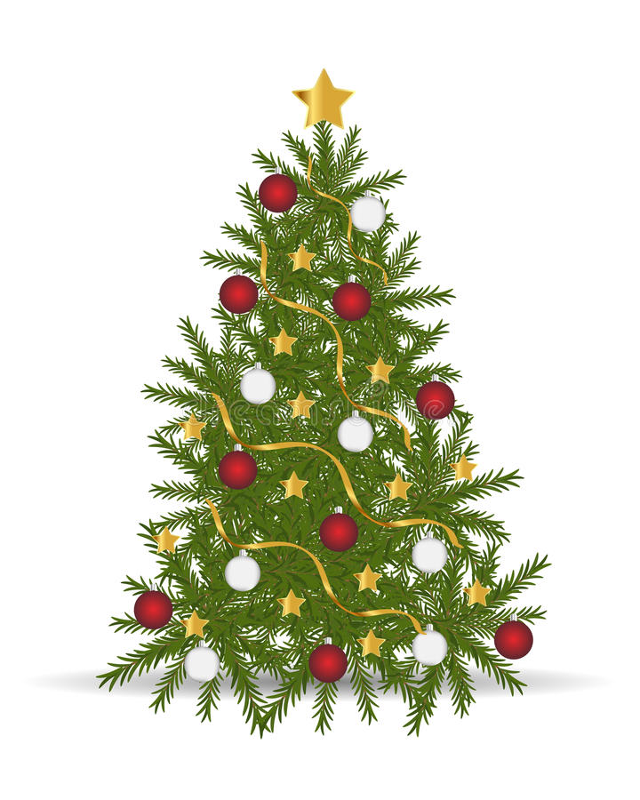 Weihnachtsbaum stock abbildung