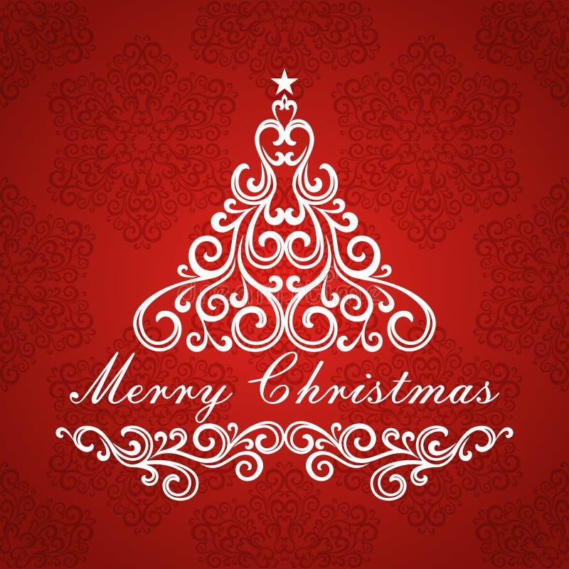 Weihnachtsbaum. lizenzfreie abbildung