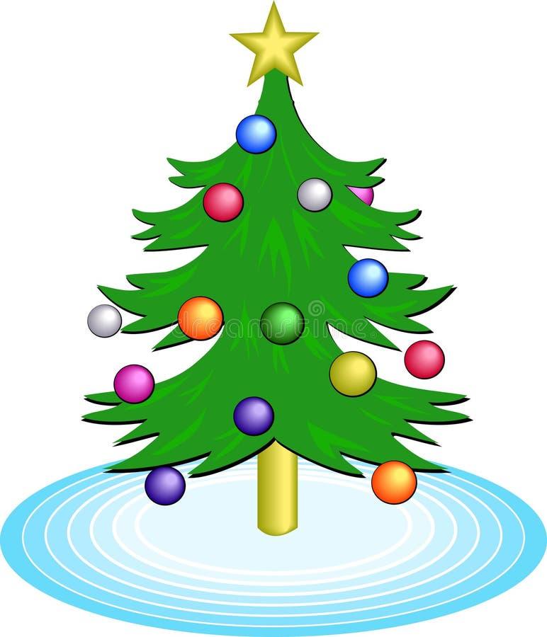 Download Weihnachtsbaum vektor abbildung. Bild von gelegenheit, feiertag - 43437