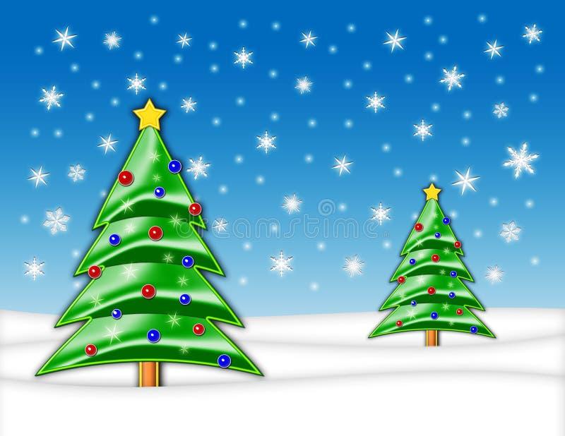 Weihnachtsbaum-Abbildung stockfoto