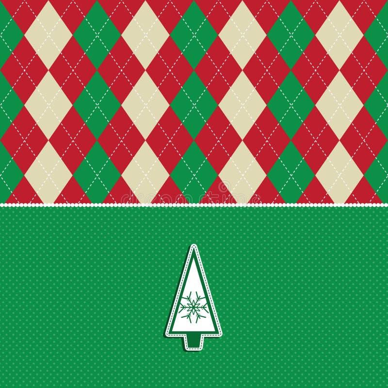 Weihnachtsbaum argyle Musterhintergrund vektor abbildung