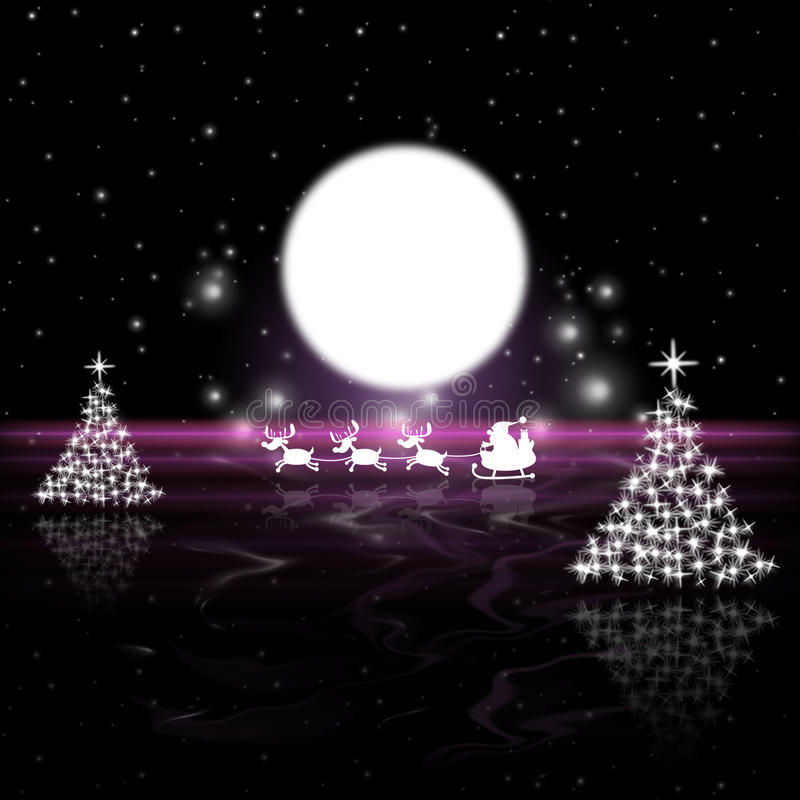 weihnachtsbaum bedeutet vollmond und mond stock abbildung illustration von baum sankt 42012869. Black Bedroom Furniture Sets. Home Design Ideas
