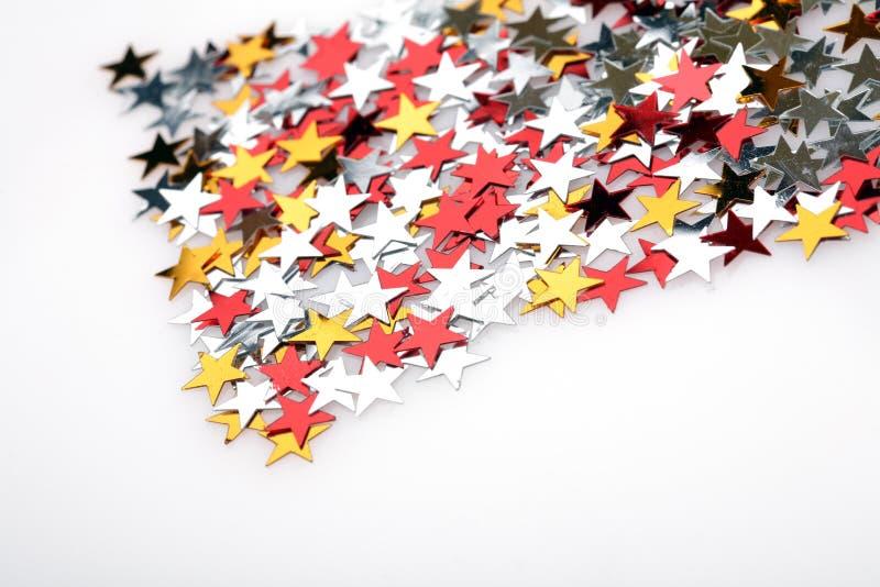 Weihnachtsbaum-Dekorationsterne stockfoto