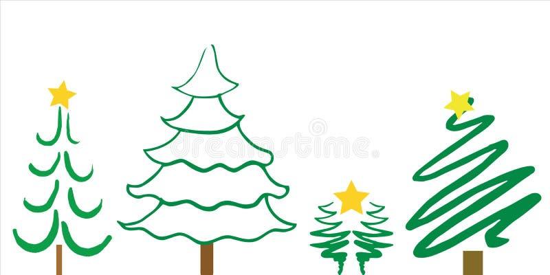 Weihnachtsbaum-Entwürfe stockfotos