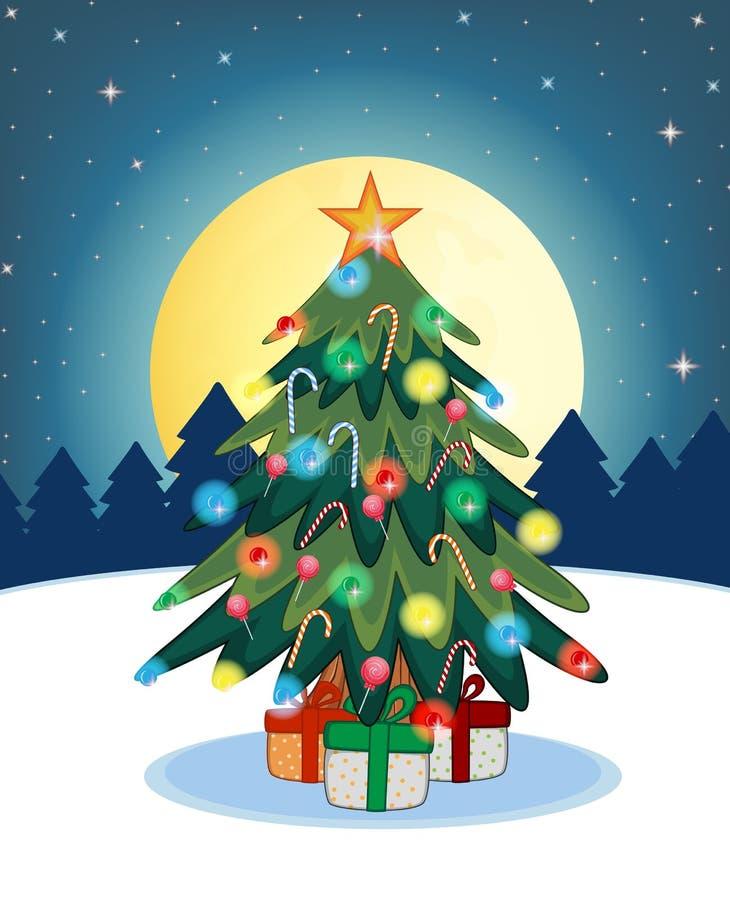 Weihnachtsbaum für Ihre Design-Vektor-Illustration vektor abbildung