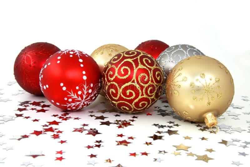 Weihnachtsbaum-Flitter lizenzfreies stockfoto