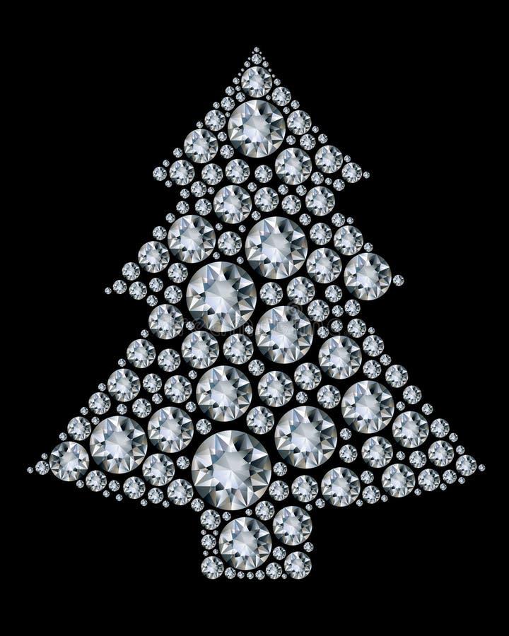 Weihnachtsbaum gebildet von den Diamanten. vektor abbildung