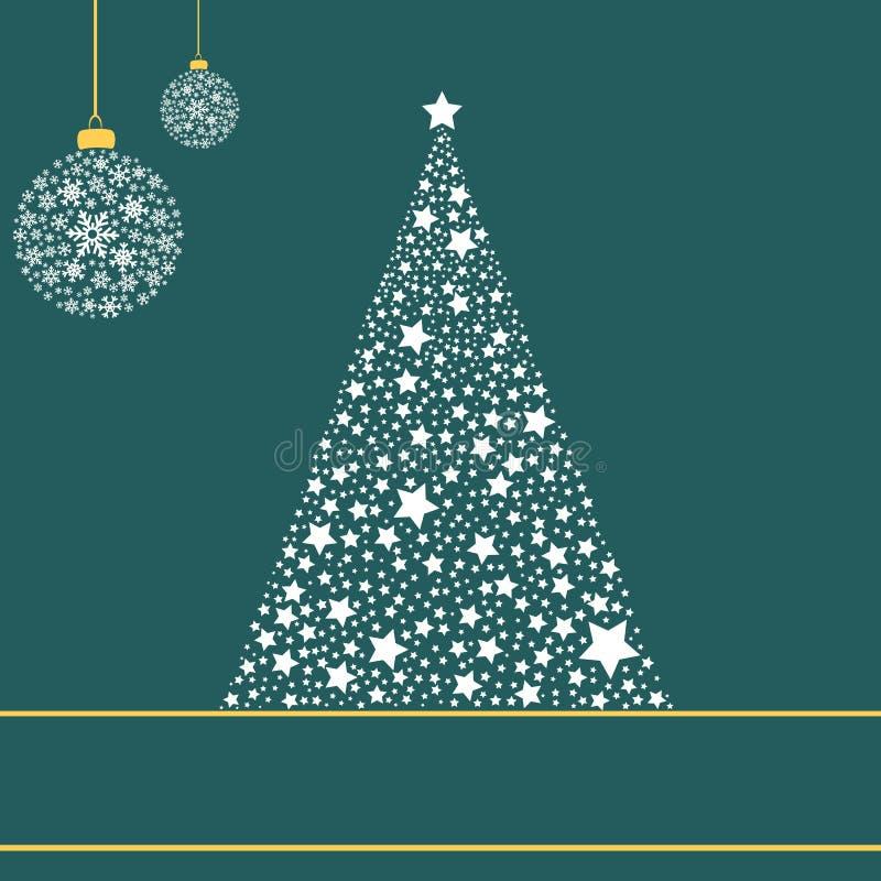 Weihnachtsbaum gebildet von den Sternen lizenzfreie abbildung