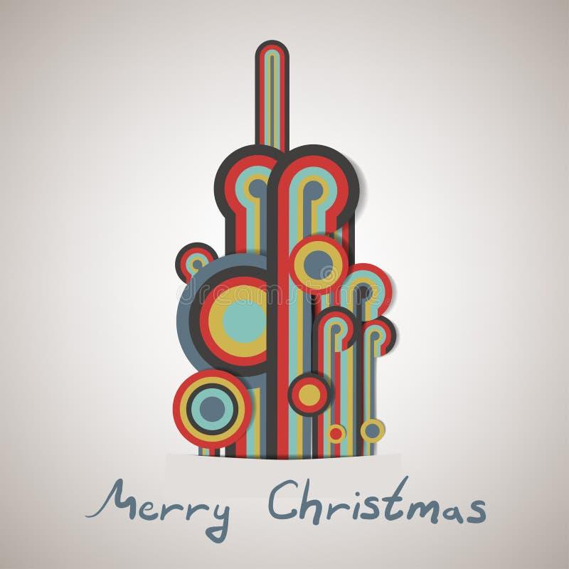 Weihnachtsbaum gemacht von den Linien lizenzfreie abbildung