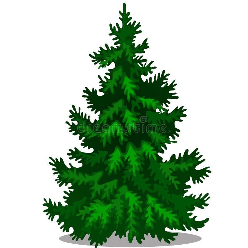 Weihnachtsbaum getrennt auf wei?em Hintergrund Probe des Plakats, Parteifeiertagseinladung, festliche Karte Elefant, der Gitarre  lizenzfreie abbildung