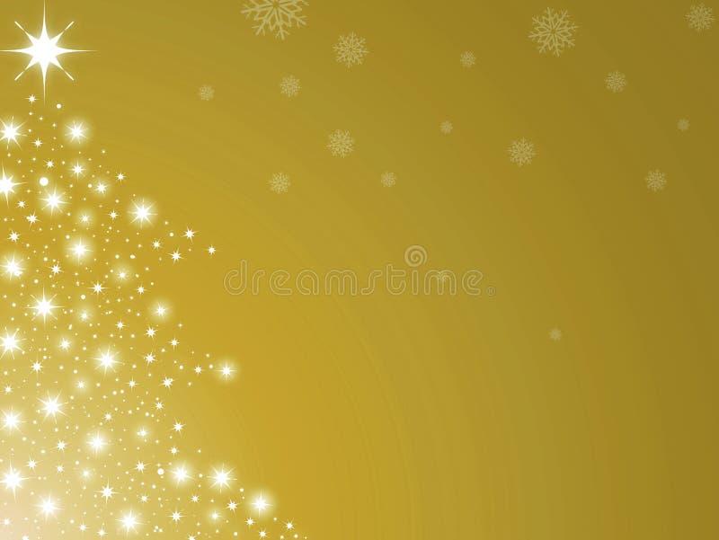 Weihnachtsbaum golden vektor abbildung