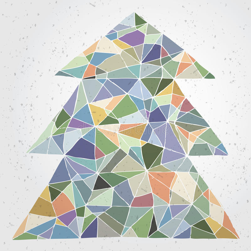 Weihnachtsbaum-Gruß-Karte vektor abbildung