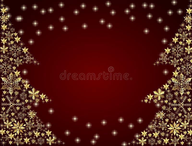 Weihnachtsbaum-Hintergrund stock abbildung