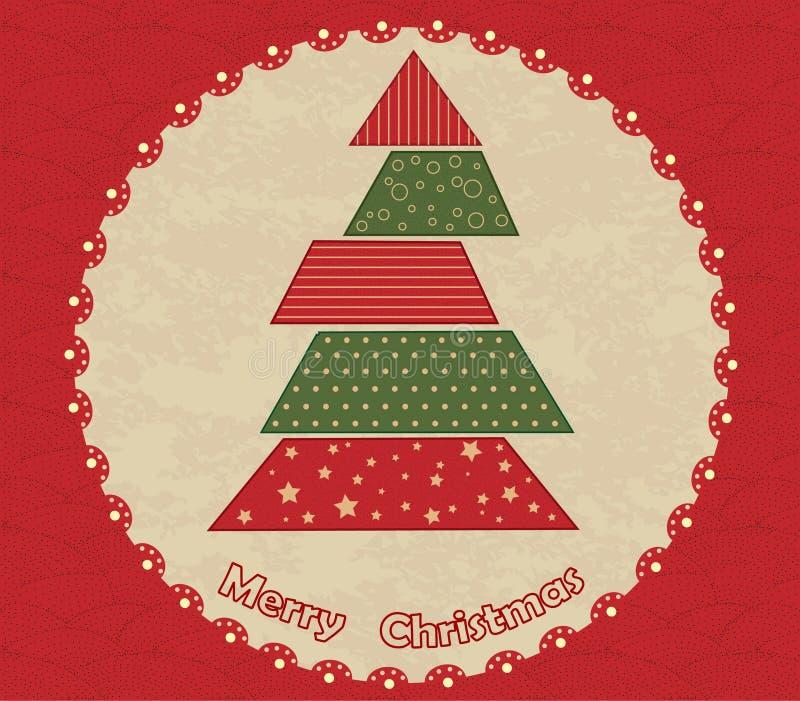 Weihnachtsbaum im Kreis stock abbildung