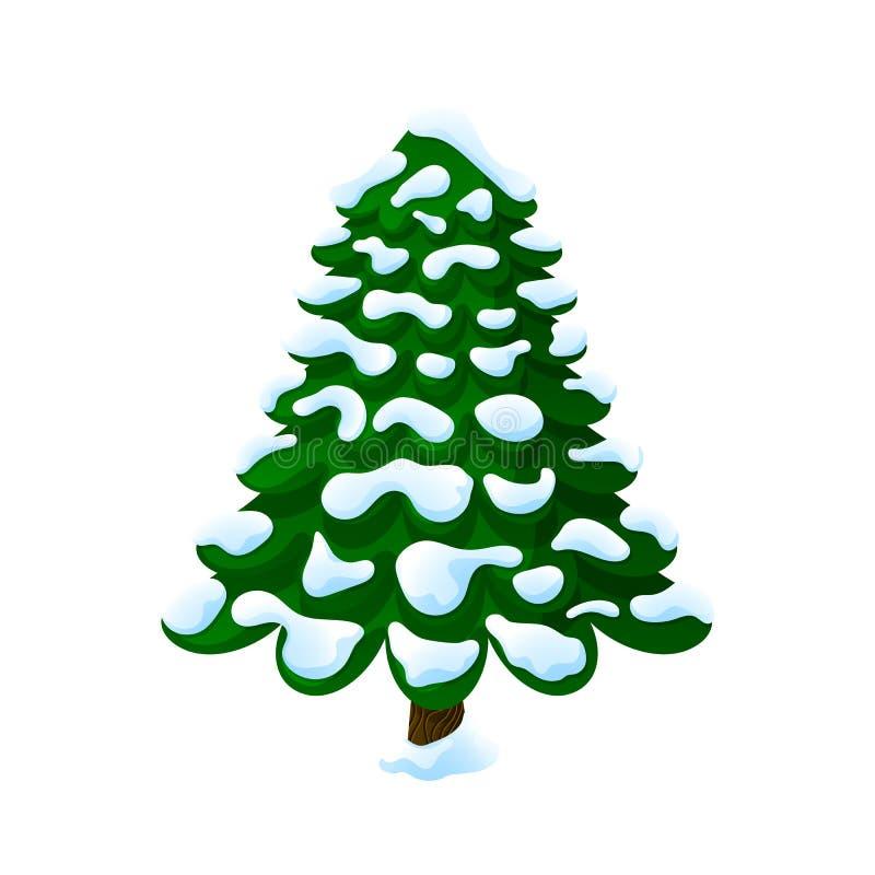 Weihnachtsbaum im Schnee lizenzfreies stockfoto