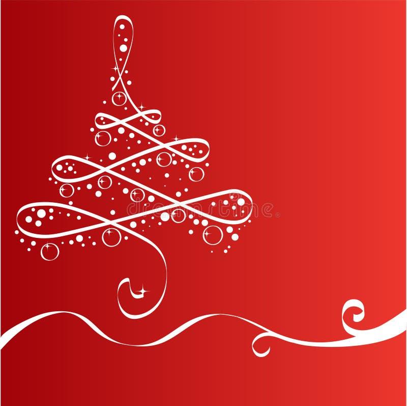weihnachtsbaum karte vektor abbildung illustration von. Black Bedroom Furniture Sets. Home Design Ideas