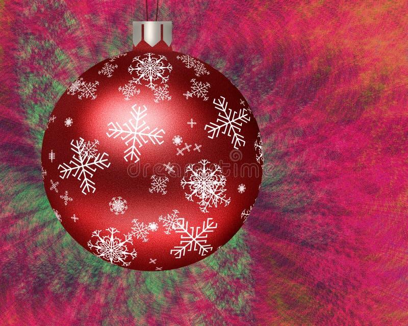 Weihnachtsbaum-Kugel-Abbildung stock abbildung