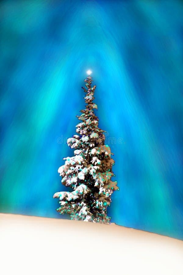 Weihnachtsbaum-Kunst Weihnachten-Karte stockfotos