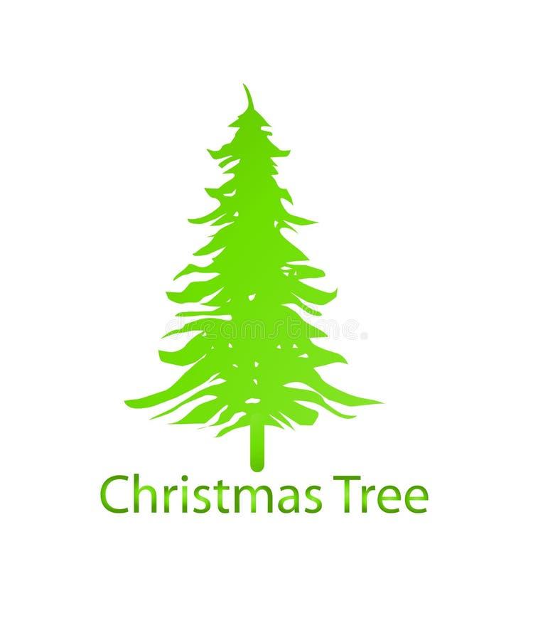 Weihnachtsbaum-Logo, Ikonenschablonen-Vektorbild Vector Logo f?r Webdesign, Mobile und infographics stock abbildung